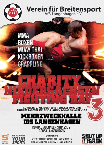 vfb 2018 charity fighting day niedersachsen flyer plakat